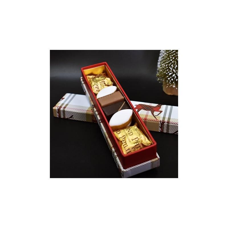 Confiserie & chocolat à offrir Réglette Noël chic
