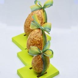 Moulages en chocolat de Pâques Oeuf nougatine (3 tailles)