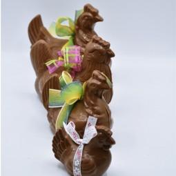 Moulages en chocolat de Pâques Poule garnie (4 tailles)