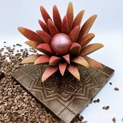 Accueil Dahlia en chocolat
