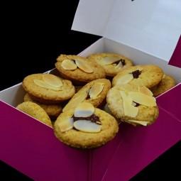 Macarons et biscuits Linzer framboise 250g