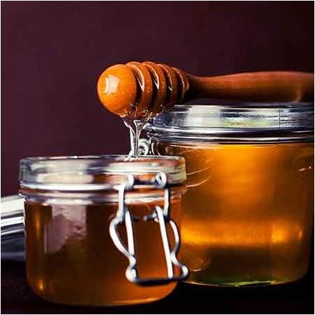 Glace miel - pignons