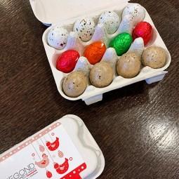 PAQUES Boite 12 oeufs de Pâques