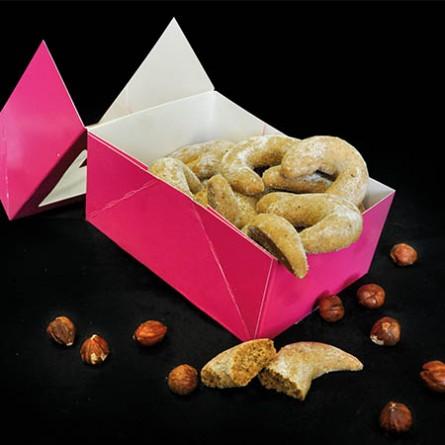 Macarons et biscuits Croissant noisettes 250g