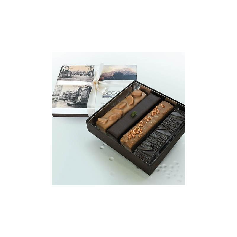 Chocolat Coffret 4 barres pralinées
