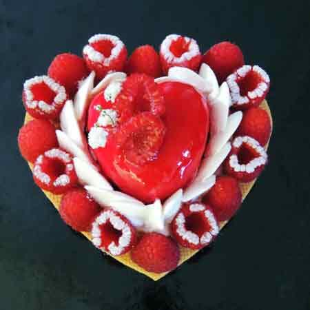 Gateau saint valentin