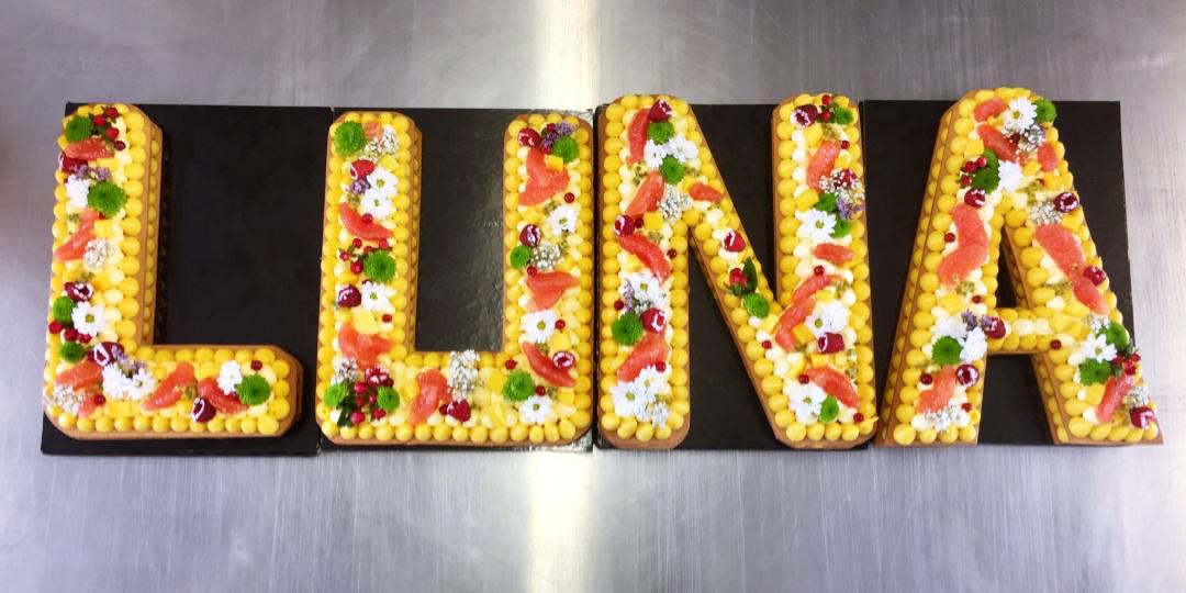 number cake prénom luna