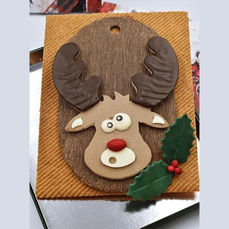 chocolat en forme de renne de noel
