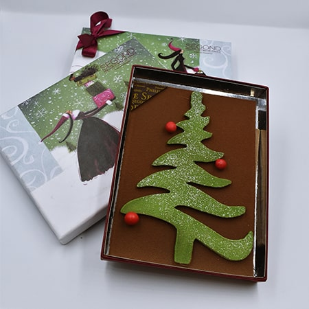 chocolat en forme de sapin